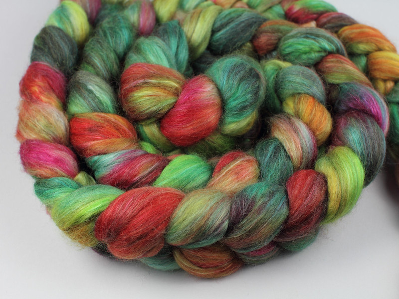 It's a Stitch Up Lustre Blend fibre in 'Rainforest'