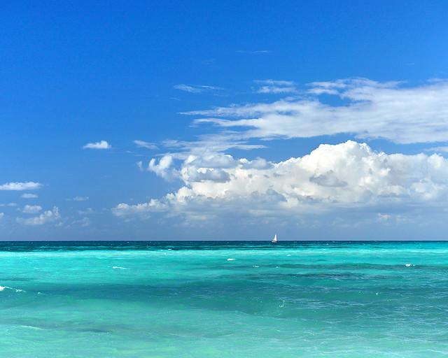 Color del agua en Cayo Levisa
