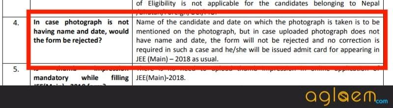 JEE Main 2018 FAQs