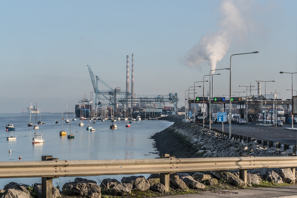 DUBLIN PORT AS SEEN FROM EAST LINK BRIDGE 001