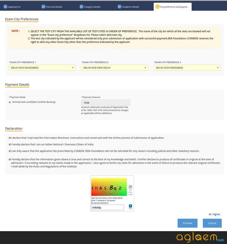 COMEDK UGET Application Form / Registration 2018 (comedk.org)
