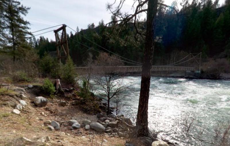 Riverside State Park Suspension Bridge (Google image capture April 2012)