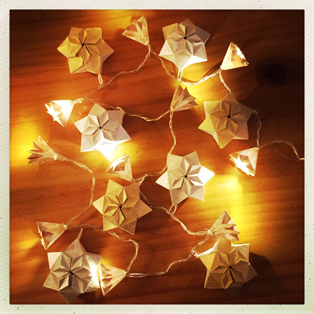 Puffy Star Origami Lights Origami Design By Paper Kawaii Flickr