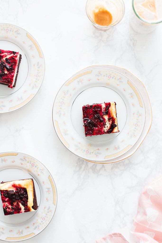 Fudgy Raspberry Cheesecake Brownies