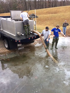 Photo of Crew stocking trout