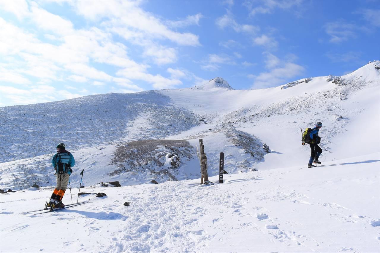 冬の安達太良山・峰の辻