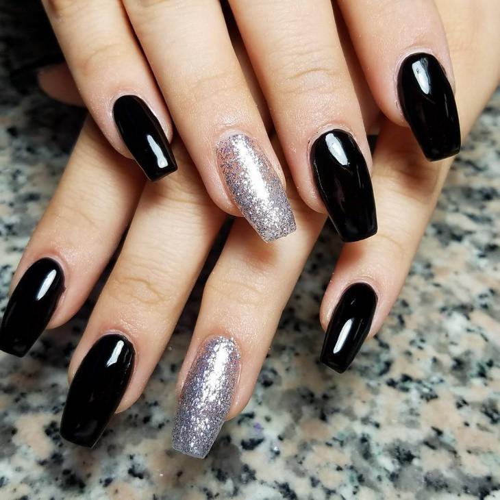Glitter-Black-Coffin-Nails | mahmoud saad | Flickr