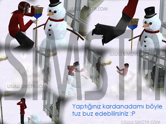 The Sims 2 Seasons Smash Snowman Kardan Adam Yıkma