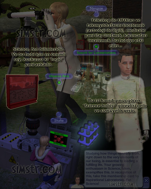 The Sims 2 FreeTime Hobbies Science