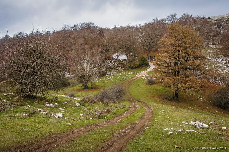 Camino que baja del Arco de Portupekoleze