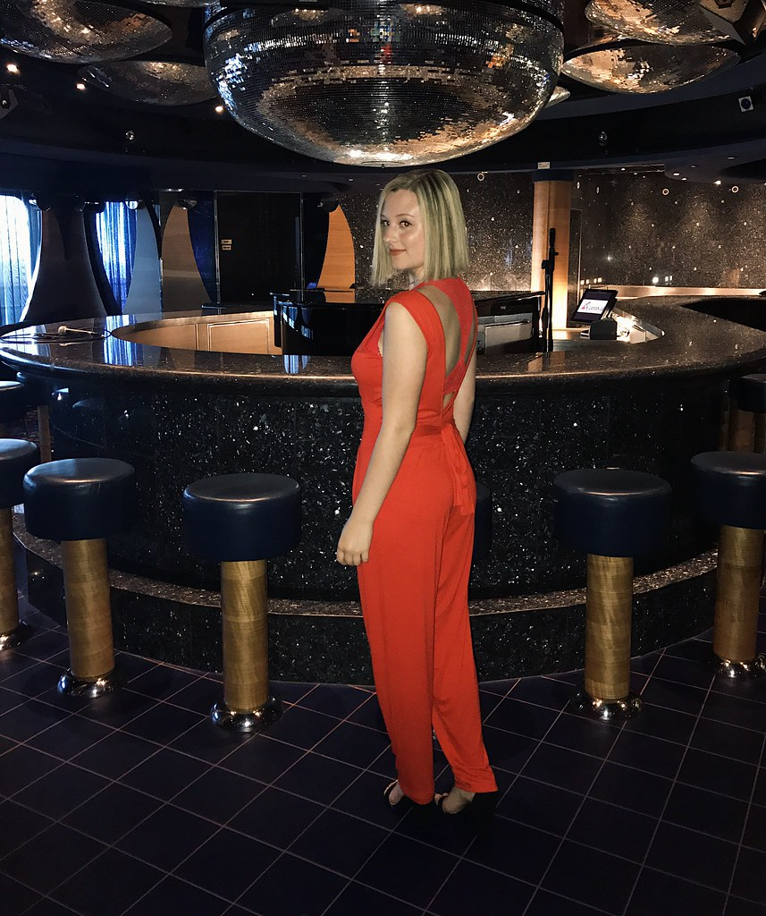 red jumpsuit outfit