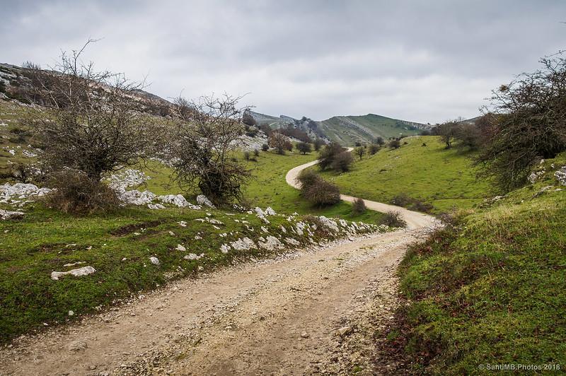 Senda del Pastoreo hacia la Venta de Lizarraga