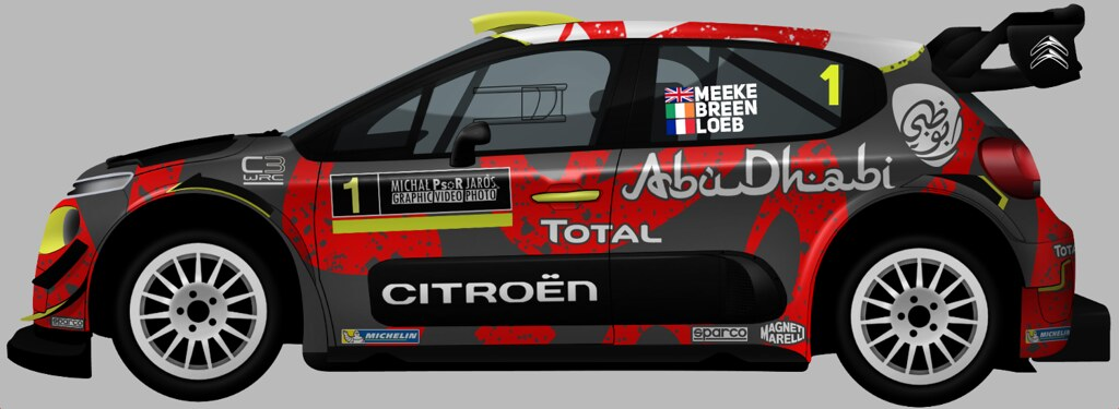 fanart livery citroen c3 wrc 2018 michal jaros flickr. Black Bedroom Furniture Sets. Home Design Ideas