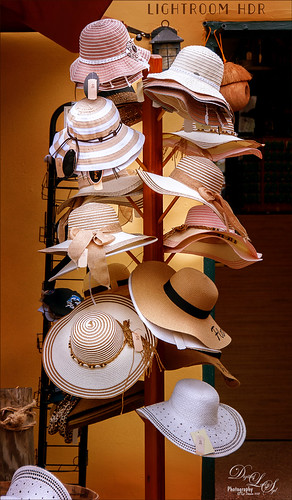 Image of a Hat Rack in St. Augustine using Lightroom HDR