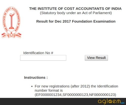 ICMAI announced Foundation/Inter/ Final Result Dec 2017; Know How Many Passed