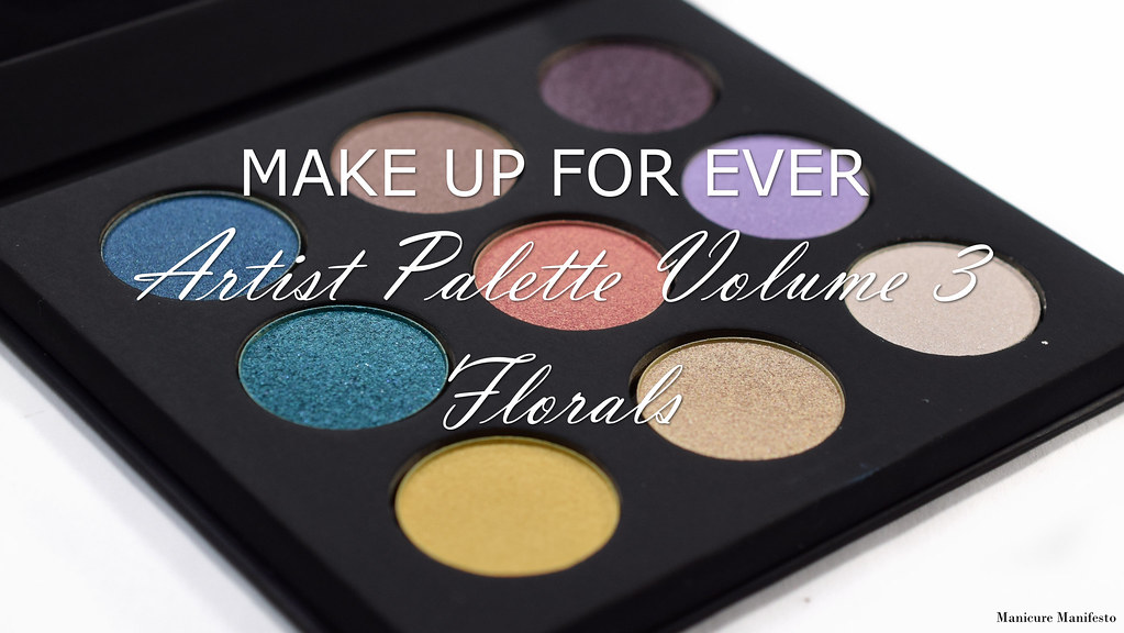 Make Up For Ever Artist Palette Volume 3 florals swatch