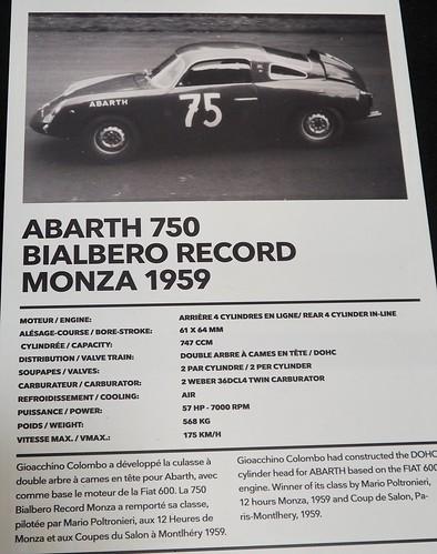 Abarth 750 DOHC Zagato Monza Record 1959 39788394584_c69afa0b5f