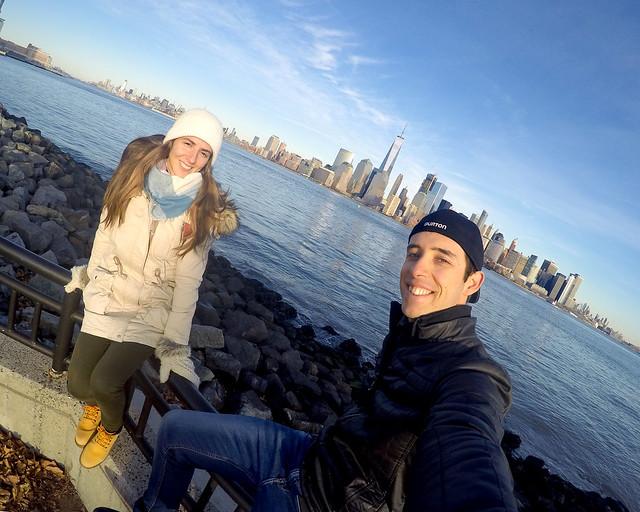 En Nueva York en una excursión frente a uno de los mejores skyline de la ciudad