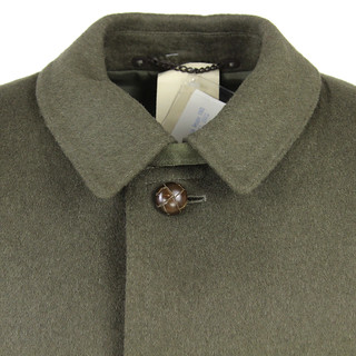 Collar detail loden composition coat latch
