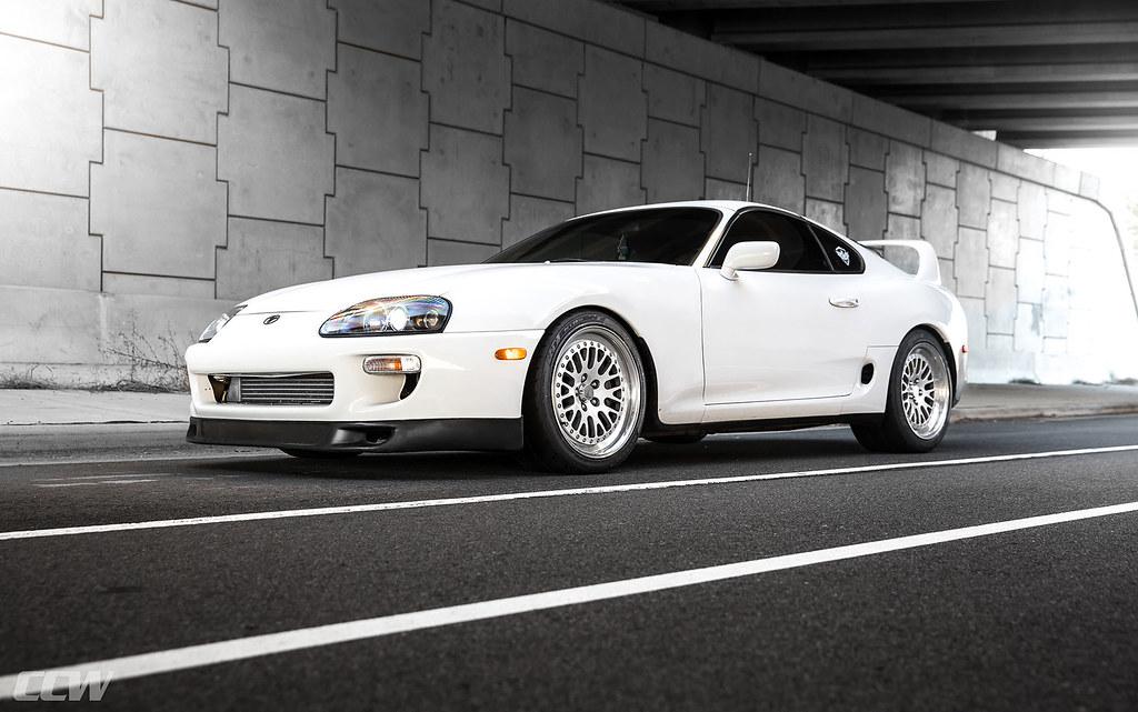 Super White Toyota Supra MKIV Turbo Targa Top - CCW Classi… | Flickr