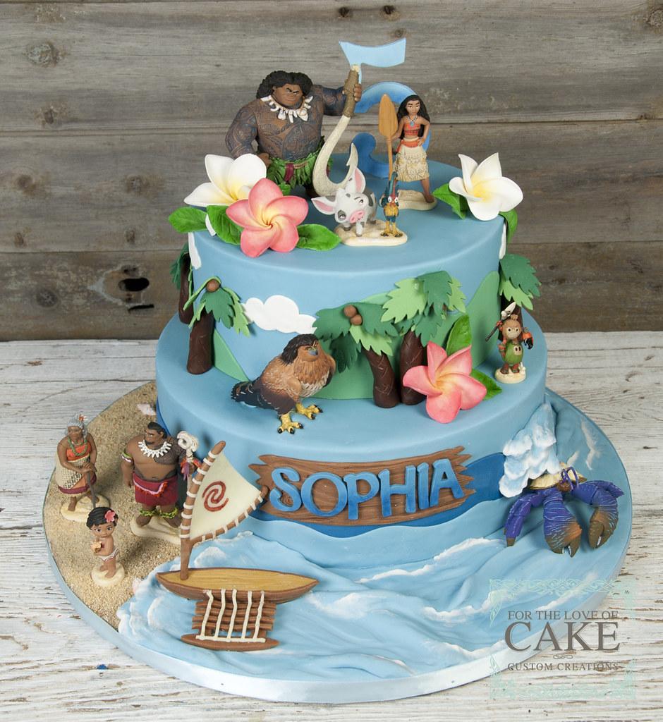 Bc4685 Moana Maui Disney Birthday Cake Toronto Genevieve Finley