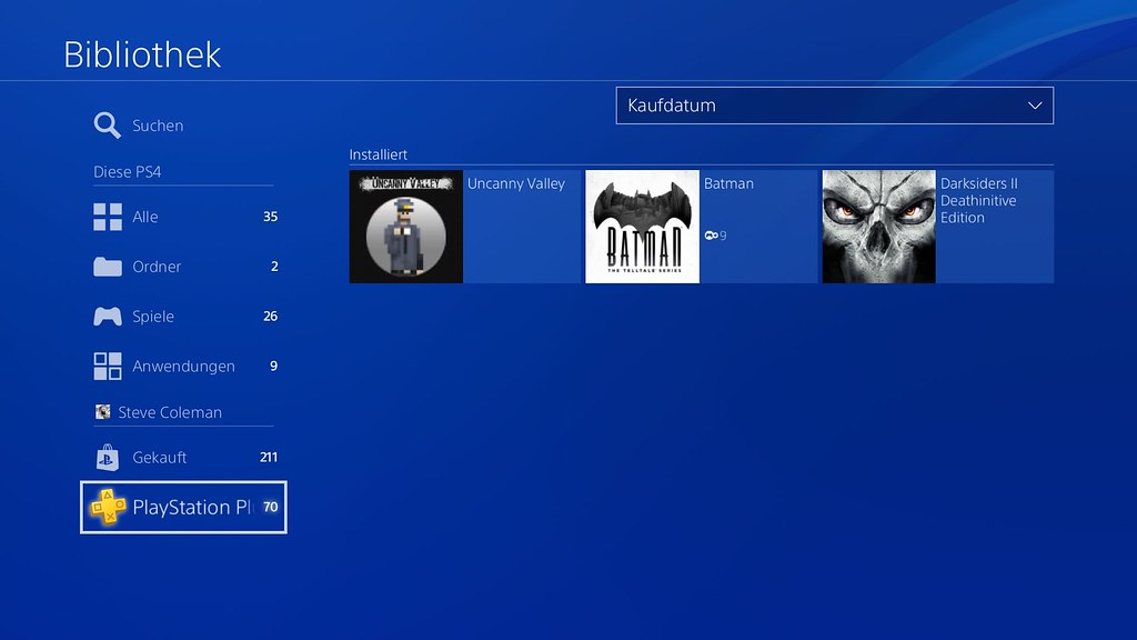 Library PS Plus DE