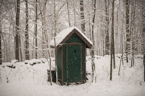 Outhouse in Snow | by goingslowly
