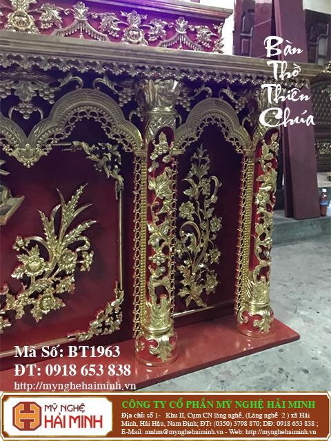 BT1964d Ban Tho Thien Chua do go mynghehaiminh