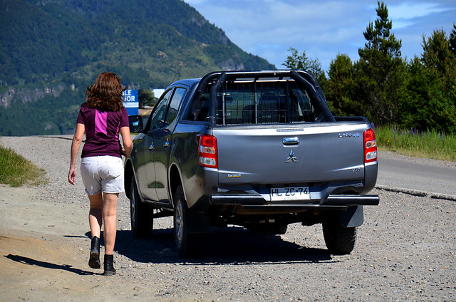 Mitsubishi Pick-Up on the Carretera Austral