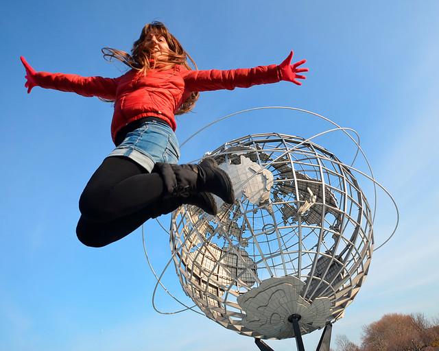 Saltando sobre el Unisphere de Nueva York