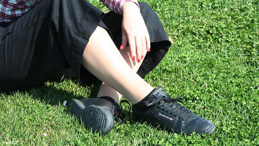 zapatillas negras Reebok classic mujer