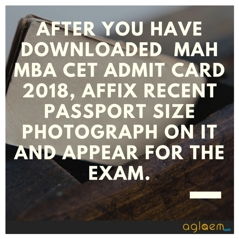 MBA CET 2018 Admit Card - Download Here MAH CET Hall Ticket  %Post Title, %Post Category, AglaSem