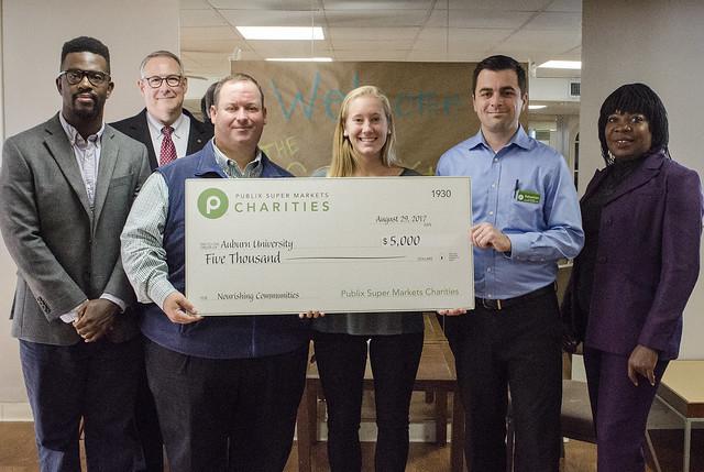 Presentation of a $5,000 check.