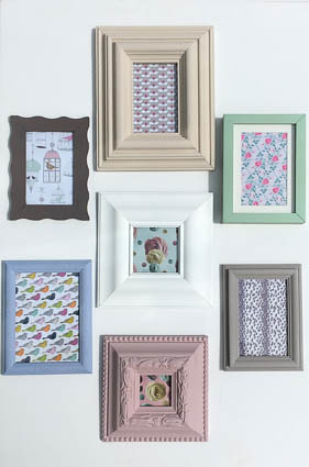 Chalk Paint Frames Plastikote Spray Paint Flickr