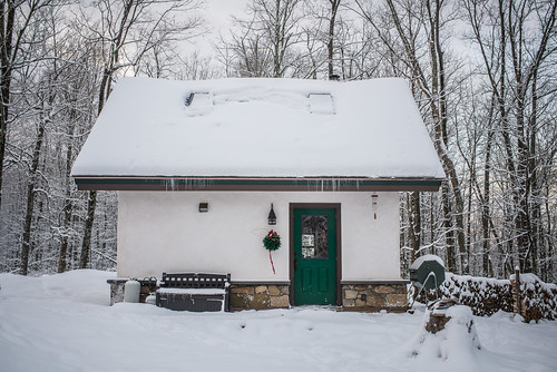 Snowy Straw Bale Cottage in the Woods | by goingslowly