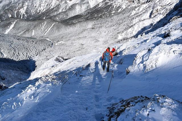 冬の八ヶ岳登山 文三郎尾根登山道