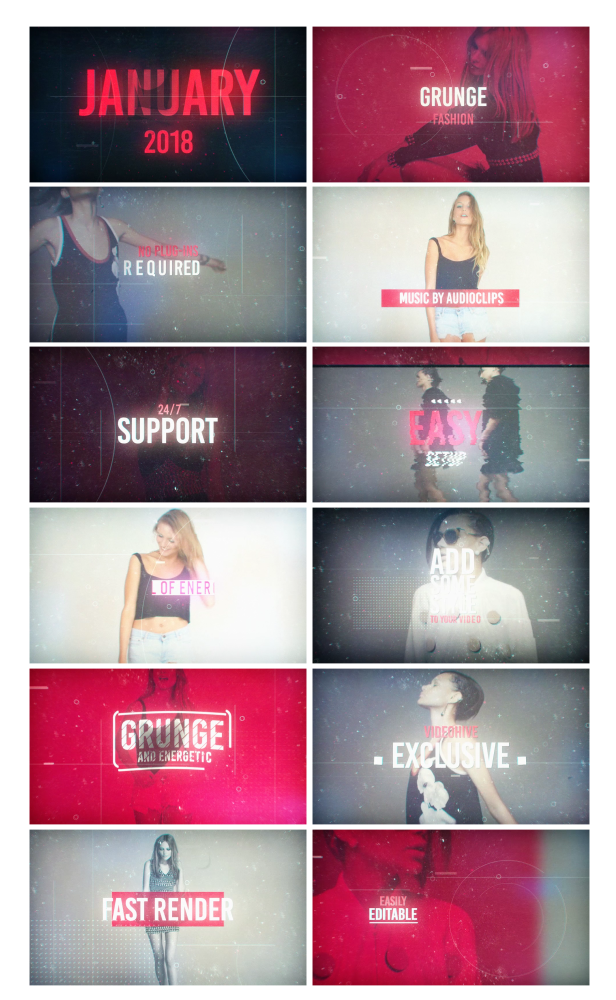 Videohive Grunge Fashion 21257990