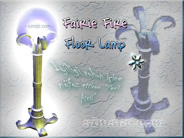 The Sims 2 Apartment Life Apartman Hayatı Witchiness Cadılık Fairie Fire Floor Lamp