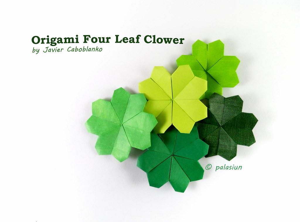 Four Leaf Clover Instruction Origami Instructions Flickr