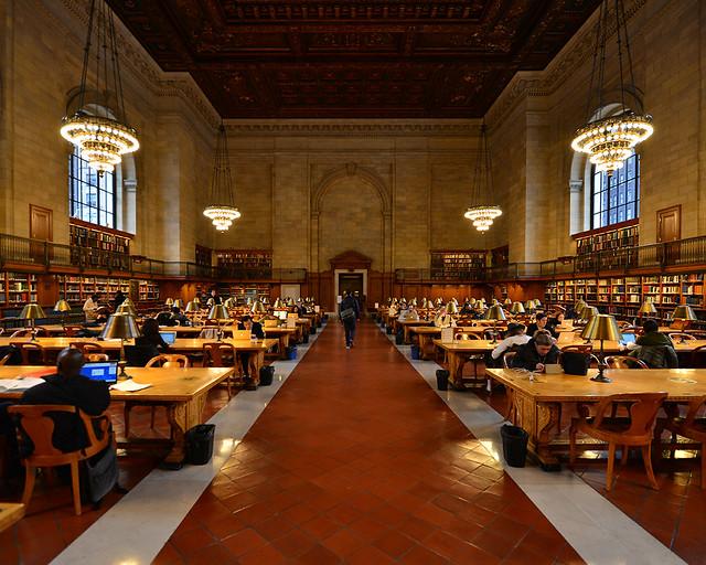 Interior de la Biblioteca Pública de Nueva York donde se rodó El día de mañana