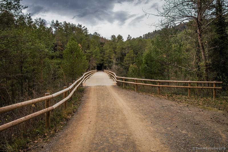Puente sobre el Llobregat en la Vía Verde del Carrilet