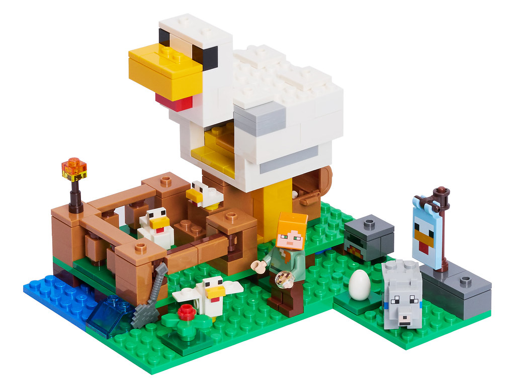 ReviewBricksetSet Chicken 21140 Minecraft The Lego Coop edWroCBx