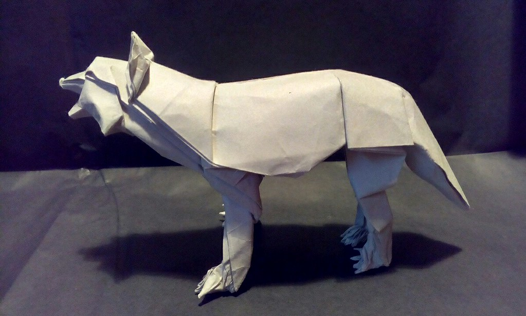 Origami Wolf Designed By Shuki Kato Origami Nature Study A Flickr