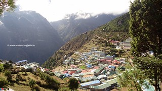 Bird's eye view of Namche town | by wanderingjatin