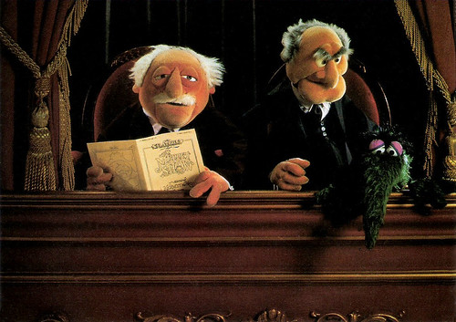 the muppet show waldorf and statler dutch postcard by. Black Bedroom Furniture Sets. Home Design Ideas