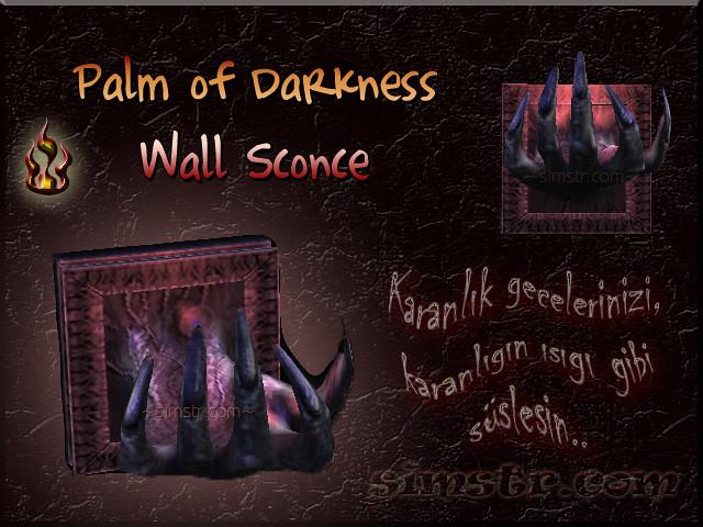 The Sims 2 Apartment Life Apartman Hayatı Witchiness Cadılık Palm of Darkness Wall Sconce