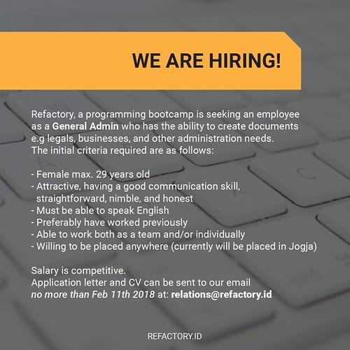 yes, we're hiring