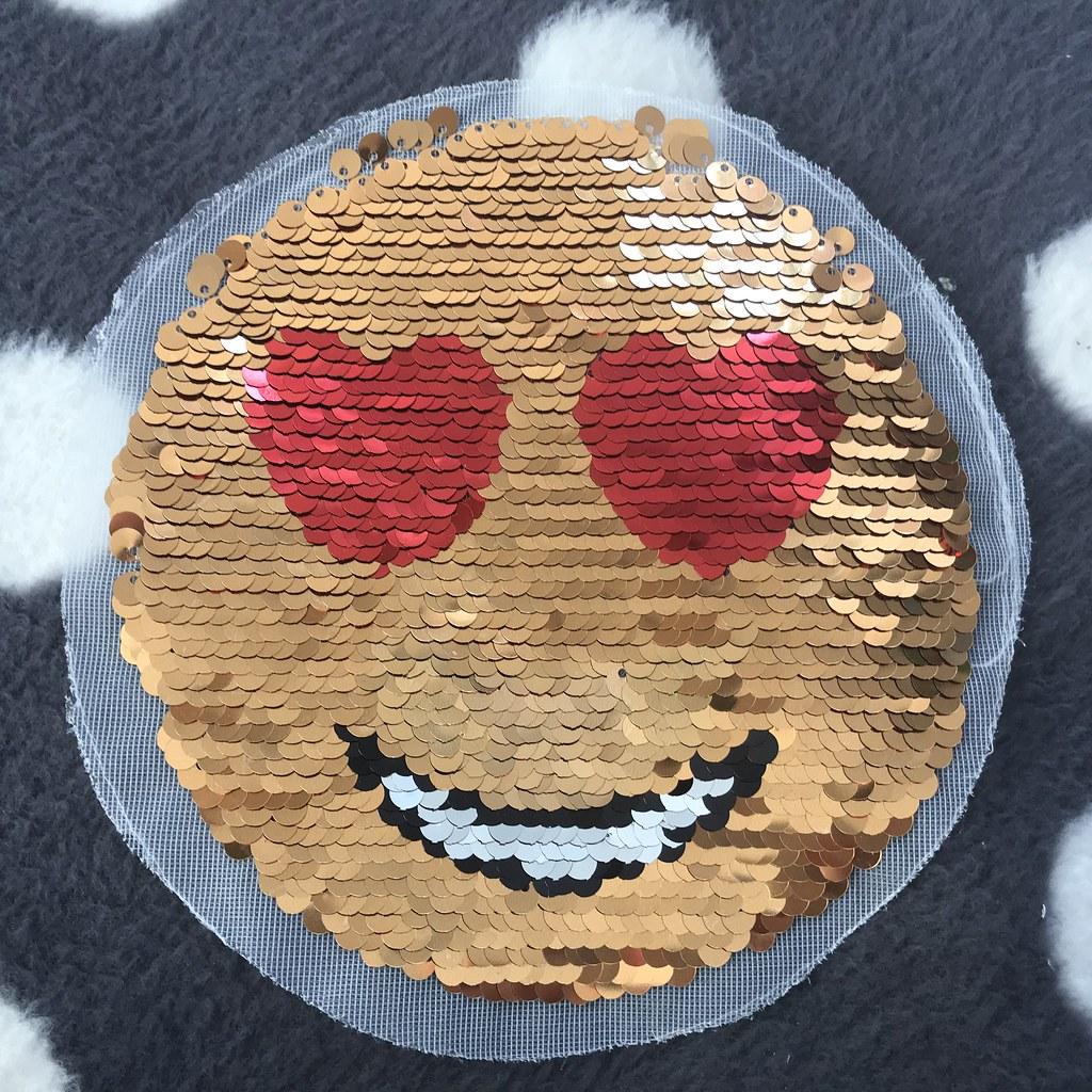 Wendepailletten-Patch Smiley, VE: 1 Stk.