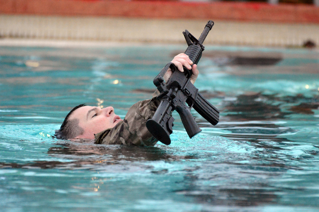 keeping your head above water a soldier assigned to headq flickr