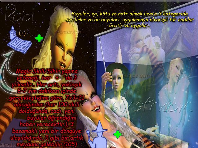 The Sims 2 Apartment Life Apartman Hayatı Witchiness Cadılık Büyü Yapmak Magic Skill Sihir Yapma Yeteneği